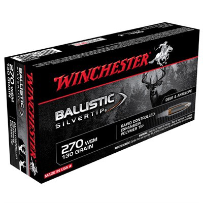Winchester Ammo 270 WSM 130gr BST Ballistic Silver Tip