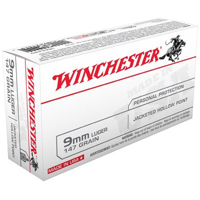 Winchester Ammo 9mm Luger USA 147gr. JHP' data-lgimg='{