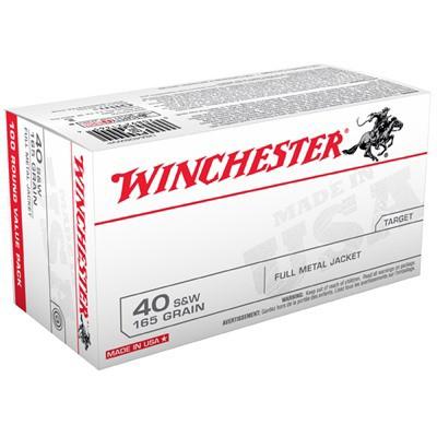 Winchester Ammo 40 S&W 165 Gr FMJ Bulk Pack 100/bx' data-lgimg='{