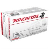 Winchester Ammo 40 S&W 165 Gr FMJ Bulk Pack 100/bx