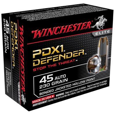 Winchester Ammo 230gr 45 auto Bonded PDX1 Super Elite' data-lgimg='{
