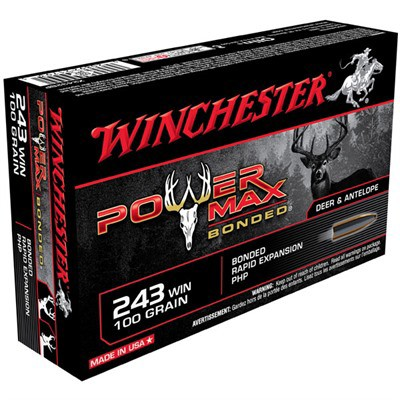 Winchester Ammo 243 Winchester 100gr Power Max bonded super-' data-lgimg='{