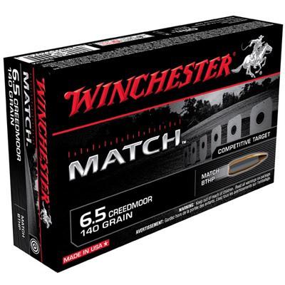Winchester Match 6.5 Creedmoor 140gr BTHP 20/bx