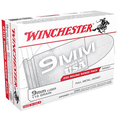 Winchester USA 9mm 115gr FMJ 200/bx