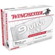 Winchester USA 9mm 115gr FMJ 200/bx