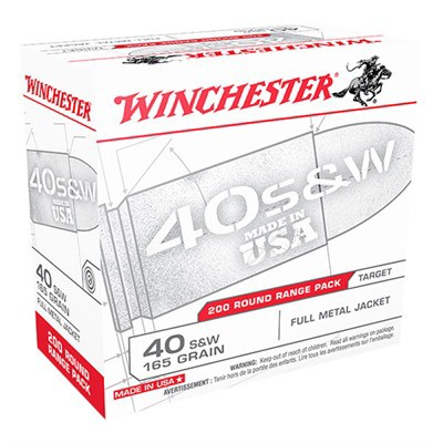 Winchester USA 40 S&W 165gr FMJ 200/bx