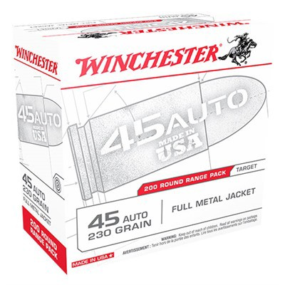Winchester USA 45 ACP 230gr FMJ 200/bx
