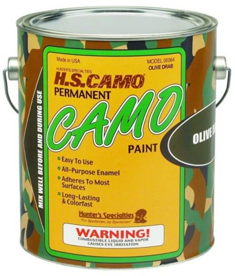 Hunters Specialties Permanent Camo Paint Olive Drab
