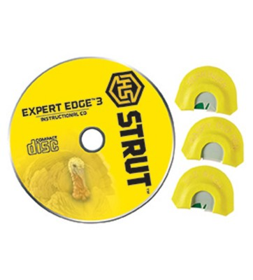 HS Strut Expert Edge 3 Diaphragm Turkey Call CD Combo Pack