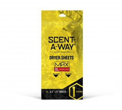 Scent-A-Way Max Odorless Dryer Sheets