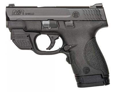 Smith & Wesson M&P Shield Crimson Trace Green Laserguard 9mm Handgun' data-lgimg='{