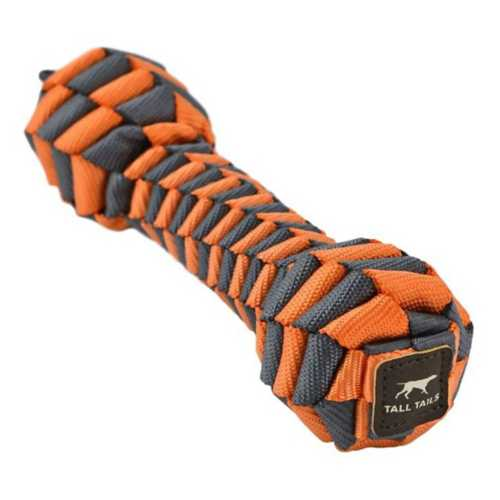 "Tall Tails Orange Braided 7"" Bone Dog Toy"
