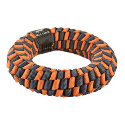 """Tall Tails Orange Braided 5"""" Ring Dog Toy"""