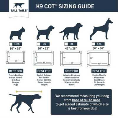 Tall Tails K9 Cot Elevated Mesh Dog Bed