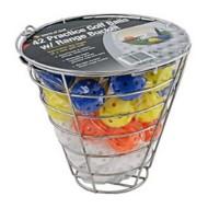 JEF World of Golf Metal Range Bucket with Plastic Practice Balls