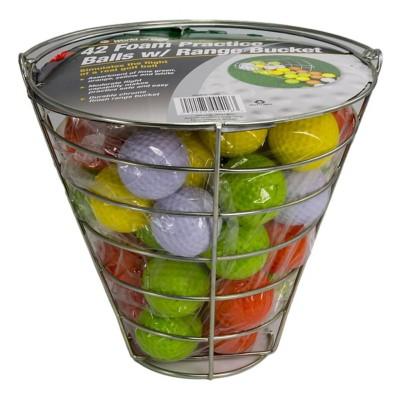 JEF World of Golf Metal Range Bucket with Foam Balls' data-lgimg='{