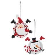 Sullivans Assorted Snowman Santa Ornament