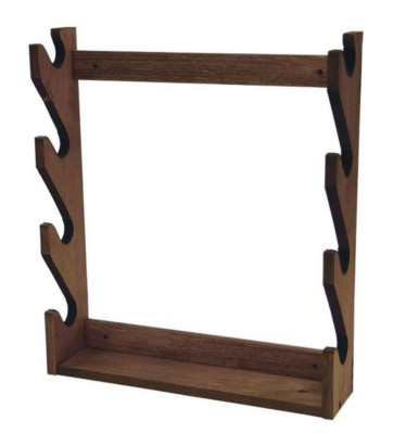 Evans Sports 4 Gun Wood Wall Rack' data-lgimg='{