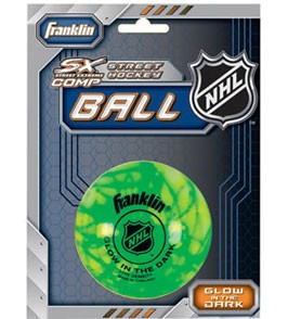 Franklin Sports Glow-In-The-Dark Street-Roller Hockey Ball