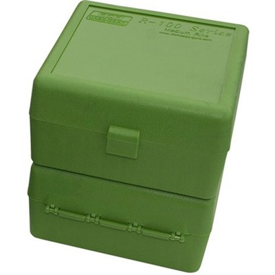 MTM  Ammo Box 100 Round Flip-Top 223 204 Ruger 6x47 Green