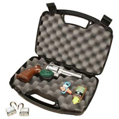 Model 809 Snap Latch Handgun Case Black Holds Two 8 Inch Barrel Handguns