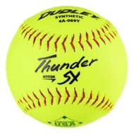 "Dudley Thunder Hycon 12"" ASA Slowpitch Softball - 6 Pack"