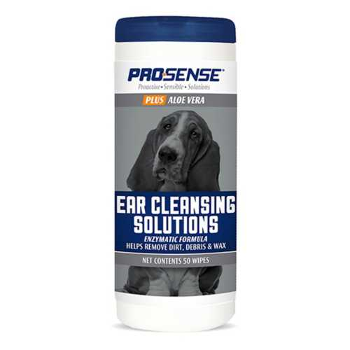 Pro-Sense Plus Ear Cleansing Solution Wipes 50 Count