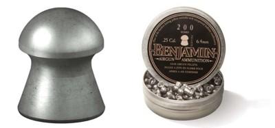 Crosman Benjamin .25 Caliber Domed Lead Airgun Pellets' data-lgimg='{