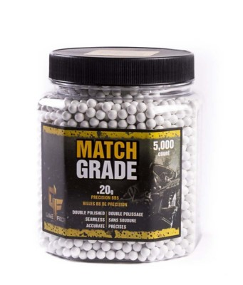 Game Face Match Grade .20 Gram Airsoft BBs 5,000 Count