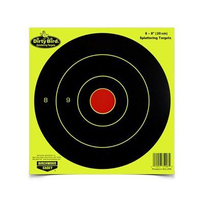 "Birchwood Casey Dirty Bird Yellow 8"" Round Target 8 Pack"