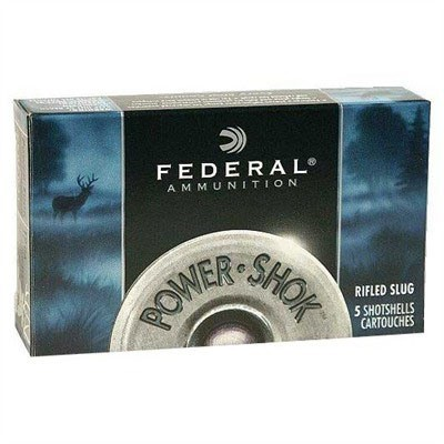 "Federal Power Shok 20ga 3"" 18 Pellets #2B 5/bx"