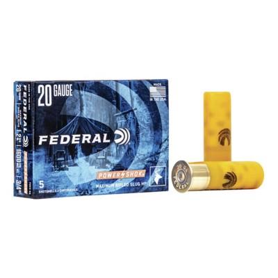 "Federal Power Shok 20ga 2.75"" 3/4oz Slug 5/bx"