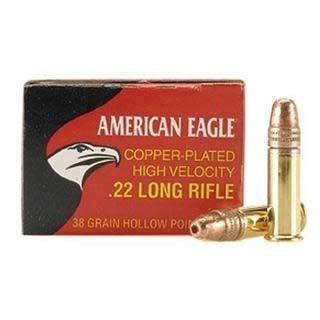 Federal Ammo 22LR 38gr CP-HP American Eagle