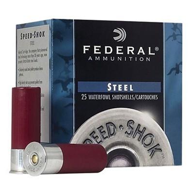 "Federal Speed Shok HV Steel 12ga 2.75"" 1oz #6 25/bx"