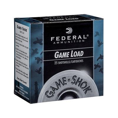 "Federal Game Shok Game Load 12ga 2.75"" 1oz #8 25/bx"