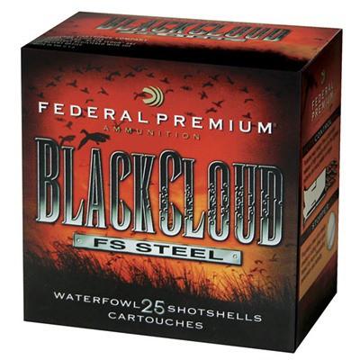 """Federal Black Cloud FS Steel 12ga 3.5"""" 1-1/2oz #4 25/bx"""