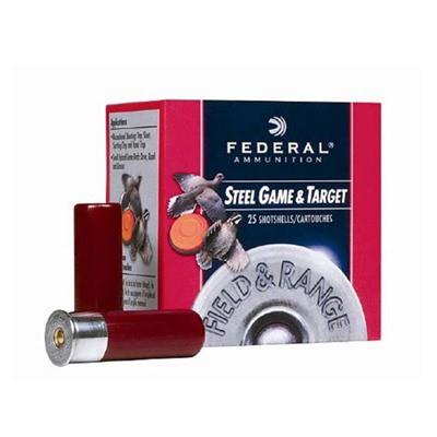 "Federal Field & Range Steel 12ga 2.75"" 1oz #7 25/bx"