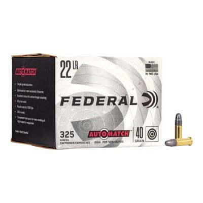 Federal Ammo 22LR Automatch 40gr Solid 325/box