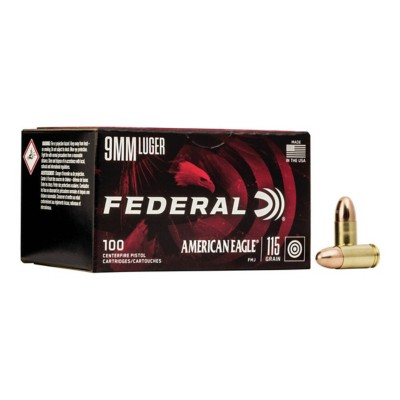 American Eagle 9mm 115gr FMJ 100/bx