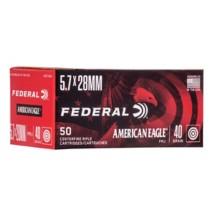 Federal American Eagle Ammo 5.7x28mm 40gr TMJ 50/bx