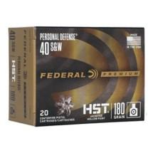Federal Ammo 40 S&W 180gr JHP 20rd/Box