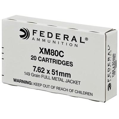 Federal Ammo 7.62x51 149gr FMJ XM80 20/bx' data-lgimg='{