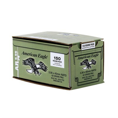 Federal Ammo 5.56 62 Gr FMJ-BT Steel Core 150/bx 4/cs