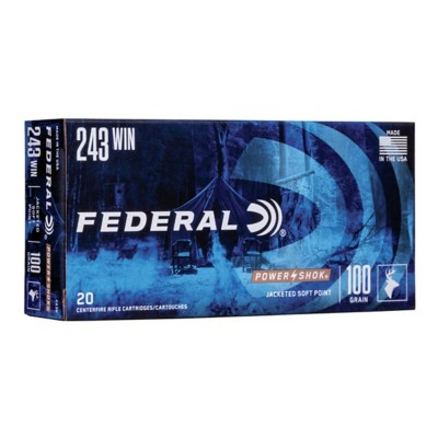 Federal Power Shok 243 Win 100gr SP 20/bx