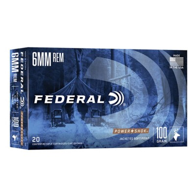 Federal Power Shok 6mm Rem 100gr SP 20/bx