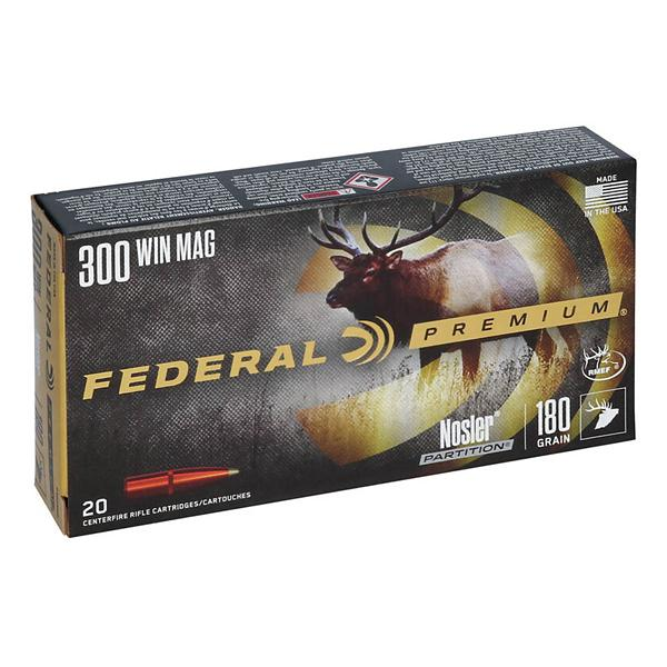 Federal Vital Shok 300 Win Mag 180gr Nosler Partition 20/bx