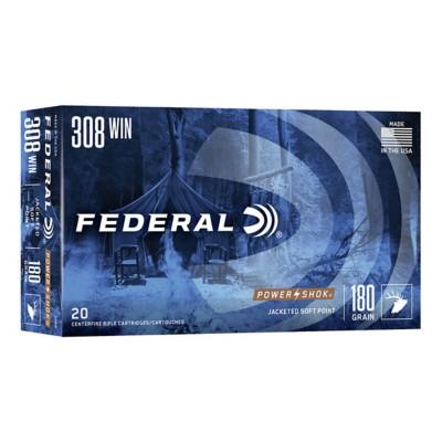 Federal Power Shok 308 Win 180gr SP 20/bx