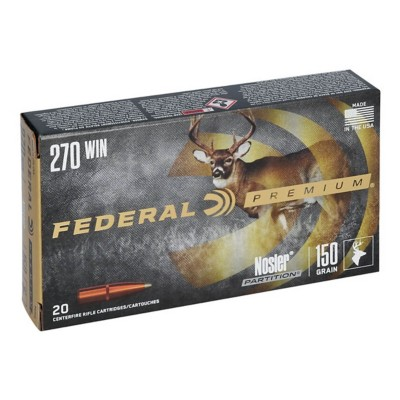 Federal Vital Shok 270 Win 150gr Nosler Partition 20/bx