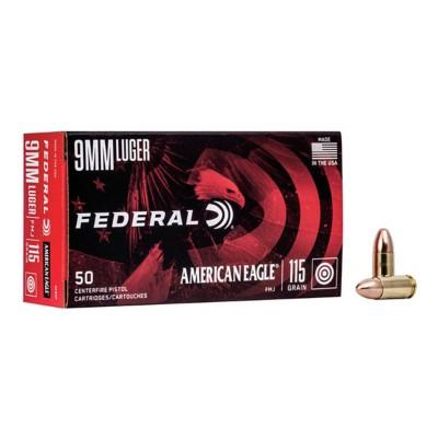 Federal American Eagle 9mm 115gr FMJ 50/bx
