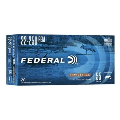 Federal Power Shok 22-250 Rem 55gr SP 20/bx